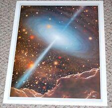 Radio Black Hole Space Art Poster 1976 Adolf Schaller commission Astronomy Mag