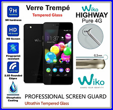 WIKO HIGHWAY PURE 4G Tempered Glass Vitre de protection d'écran en VERRE TREMPE