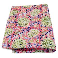Indian Hand Block Printed Cotton Sewing Voile Fabric Dressmaking 5 Yards HDOFAH