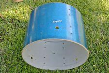 "60's Rogers 20"" HOLIDAY BLUE SPARKLE HOLIDAY BASS DRUM SHELL for DRUM SET! #E262"