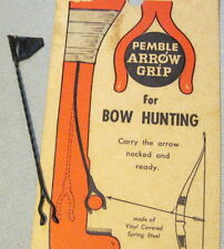 "Vintage ""PAMBLE"" ARROW GRIP for Hunting Recurve, Longbow, Compound Archery Bows"