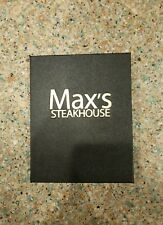 """(2) Guest Check Credit Card Holder Presenter """"Max's Steakhouse"""" Trump Amex New!"""