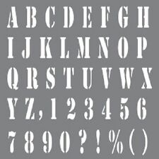 DECO ART ANDY SKINNER ALPHABETS A-Z,LETTERING STENCIL 6'' X 6'' HAVE YOUR SAY
