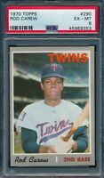1970 Topps Set Break # 290 Rod Carew PSA 6 *OBGcards*