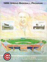 1986 Spring Training Baseball Program California Angels @ Chicago Cubs, unscored