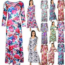 Unbranded Polyester 3/4 Sleeve Maxi Dresses for Women