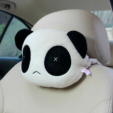 Hot Cartoon Panda Plush Auto Waist Cushion Car Seat Neck Rest Headrest Pillow