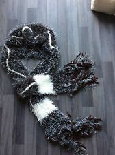 Fabulous soft  fluffy chunky all in one hat scarf grey
