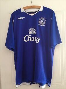 Everton Football Soccer Blue Home Top Shirt 2007/2008 Umbro Original Retro XXL