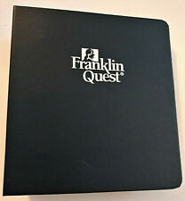 FRANKLIN QUEST 3 Ring Storage Case BINDER Classic Size NAVY Markers STICKERS