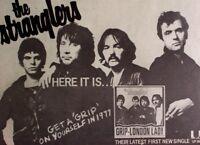 THE STRANGLERS 1977 original ADVERT GRIP rattus norvegicus LONDON LADY