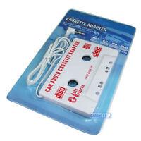 Car Audio 3.5mm Cassette Adaptor iPhone CD MD iPOD NANO MP3 Tape Converter WHITE