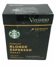 72 Pods Starbucks Verismo Blonde Espresso Roast Coffee Exp 5/dec 2019