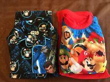 Boys Long Sleeve Shirt Pants Pajamas Star Wars Mario Party 9 Set O2