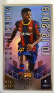 2021 Topps UEFA Champions Best of Best - Ansu Fati XL Supersize Foil Barcelona