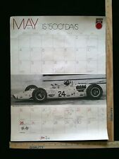 May 1980 Indianapolis 500 Calendar With 8 Drivers Signature Autograph