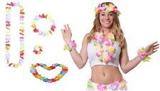 12 Collane +bracciale+frontino  Hawaiane Fiori addio al nubilato/ celibato party