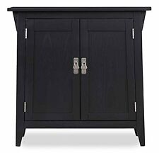 Leick Furniture Mission Foyer Cabinet/Hall Stand With Shelf Slate Finish