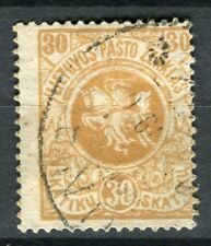 LITHUANIA;    1918 early first issue type fine used 30s. value
