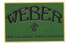 "Weber ""Fine Acoustic Instuments"" Sticker / Decal"