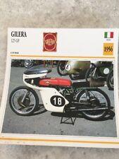 Gilera 125 GP 1956 Carte moto Collection Atlas Italie