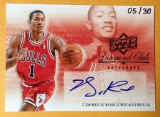 Derrick Rose Autograph 05/30 2008 Upper Deck Diamond Club Exclusives