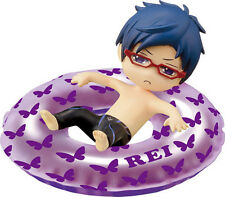 Free! - Iwatobi Swim Club 2'' Rei Innertube Bath Trading Figure NEW