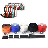 1Pair Bicycle Handlebar Tape PU Leather Bike Handlebar Anti-slip Belt StrapGG