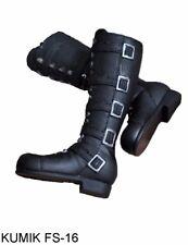 "KUMIK FS-16 Black Boots 1/6 Scale Female Shoes Fit 12"" Action Figure Body Toys"