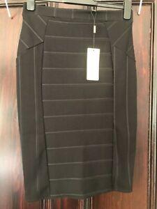 Lipsy Black Bandage Skirt Size 12  BNWT Fast Free Postage