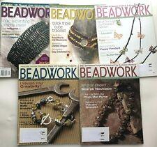 Bead Work Beadwork Magazine Back Issues Lot of 5 2003 2004 Beads Beading Jewelry