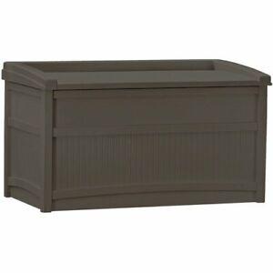 Storage Deck Box Outdoor Container Bin Chest Patio Suncast 50 Gallon Bench Seat