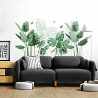 FP- Tropical Leaves Green Plant Wall Stickers Vinyl Decal Living Room Art Mural