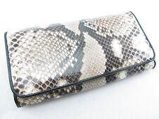 Genuine Python Snake Skin Leather Women Bifold Clutch Wallet Natural + Free Ship