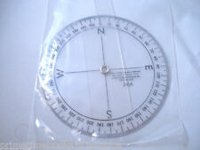 *New* C-Thru 255a 3-Inch Circular Rose Maritime Navigational Compass Protractor