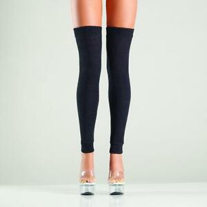 sexy BE WICKED knit KNITTED footless FEETLESS thigh HIGHS acrylic LEG warmers