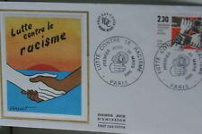 ENVELOPPE PREMIER JOUR SOIE 1982 LUTTE CONTRE RACISME