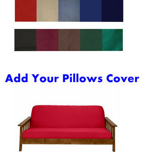 Made In USA 100% High Quality Solid Color Futon Cover Case! Sure Fit! Free S/H