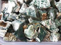 1/2 LB TREE AGATE  Rough Rock for Tumbling Tumbler Stones PEACE & CENTER FS