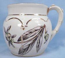 Vintage Flowers & Leaves Shaving Mug from Chamber Set Adamantine China