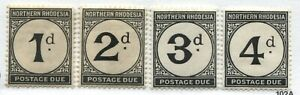 Northern Rhodesia 1929 Postage Dues set mint o.g. hinged