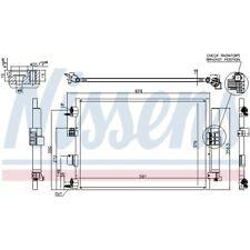 1 Condenseur, climatisation NISSENS 940463 convient à FORD