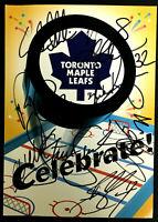 Vtg Toronto Maple Leafs NHL Hockey Autographed Greeting Card x15 Signatures