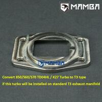 MAMBA Turbine Inlet Flange Convert Volvo 850 940 S60 S70 TD04HL K24 Turbo to T3