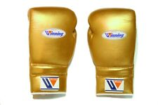 Winning Boxing Gloves(GOLD) Lace UP Pro Type MS 600 16 oz Handcrafted in Japan
