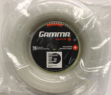 Gamma Poly-Z 16g White 660' Reel Polyester Tennis String 1.30mm 200m NEW SEALED