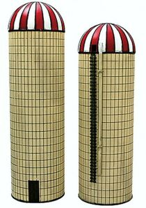 IMEX Model Co. - Silos - Assembled - Perma-Scene™ -- One Large, One Small - N