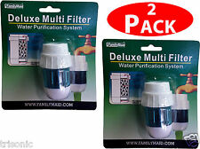 Two Multi-layer Carbon Kitchen Faucet Tap Water Filter Purification System New