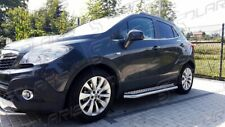 Opel Mokka 2012-2015 | MARCHE-PIEDS INOX PLAT / PROTECTIONS LATERALES