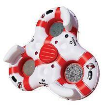 3 Person Super Chill River Tube with Cooler Inflatable Pool Float Swimline 17003